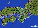 近畿地方のアメダス実況(日照時間)(2020年10月27日)
