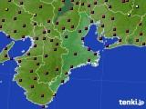 三重県のアメダス実況(日照時間)(2020年10月27日)