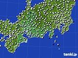 東海地方のアメダス実況(風向・風速)(2020年10月27日)