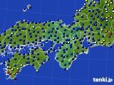 近畿地方のアメダス実況(日照時間)(2020年10月28日)
