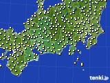 2020年10月30日の東海地方のアメダス(気温)
