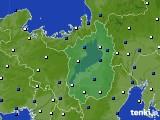 2020年10月30日の滋賀県のアメダス(風向・風速)