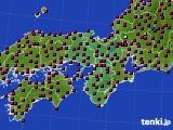 近畿地方のアメダス実況(日照時間)(2020年10月31日)