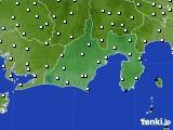 静岡県のアメダス実況(風向・風速)(2020年10月31日)