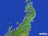 2020年11月02日の東北地方のアメダス(降水量)