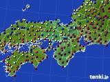 2020年11月03日の近畿地方のアメダス(日照時間)