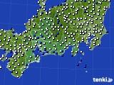 2020年11月03日の東海地方のアメダス(風向・風速)