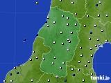 2020年11月03日の山形県のアメダス(風向・風速)