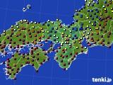 2020年11月04日の近畿地方のアメダス(日照時間)