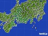 2020年11月05日の東海地方のアメダス(風向・風速)