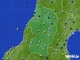 2020年11月05日の山形県のアメダス(風向・風速)