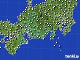 2020年11月07日の東海地方のアメダス(風向・風速)