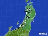 2020年11月08日の東北地方のアメダス(降水量)