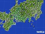 2020年11月08日の東海地方のアメダス(風向・風速)