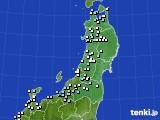 2020年11月09日の東北地方のアメダス(降水量)