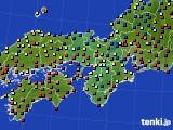 2020年11月09日の近畿地方のアメダス(日照時間)