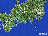 2020年11月09日の東海地方のアメダス(風向・風速)