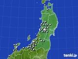 2020年11月10日の東北地方のアメダス(降水量)