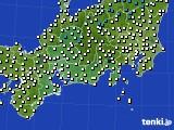 2020年11月10日の東海地方のアメダス(気温)