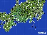 2020年11月10日の東海地方のアメダス(風向・風速)