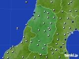 2020年11月10日の山形県のアメダス(風向・風速)
