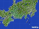 2020年11月14日の東海地方のアメダス(風向・風速)