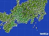 2020年11月15日の東海地方のアメダス(風向・風速)
