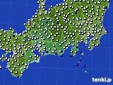 2020年11月16日の東海地方のアメダス(風向・風速)