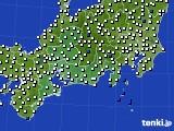 2020年11月17日の東海地方のアメダス(風向・風速)