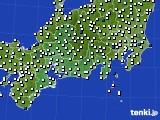2020年11月18日の東海地方のアメダス(風向・風速)