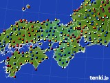 2020年11月19日の近畿地方のアメダス(日照時間)