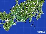 2020年11月19日の東海地方のアメダス(風向・風速)
