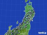 2020年11月20日の東北地方のアメダス(降水量)