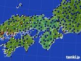 2020年11月20日の近畿地方のアメダス(日照時間)
