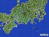 2020年11月20日の東海地方のアメダス(風向・風速)