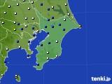 2020年11月20日の千葉県のアメダス(風向・風速)