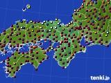 2020年11月21日の近畿地方のアメダス(日照時間)