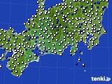 2020年11月21日の東海地方のアメダス(風向・風速)
