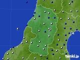2020年11月21日の山形県のアメダス(風向・風速)