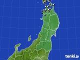 2020年11月22日の東北地方のアメダス(降水量)