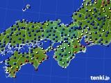 2020年11月22日の近畿地方のアメダス(日照時間)