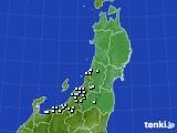 2020年11月23日の東北地方のアメダス(降水量)