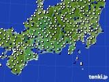 2020年11月23日の東海地方のアメダス(風向・風速)