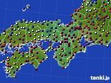 2020年11月24日の近畿地方のアメダス(日照時間)