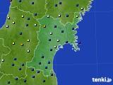 宮城県のアメダス実況(日照時間)(2020年11月25日)