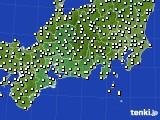 2020年11月25日の東海地方のアメダス(気温)