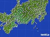 2020年11月25日の東海地方のアメダス(風向・風速)