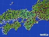 2020年11月26日の近畿地方のアメダス(日照時間)
