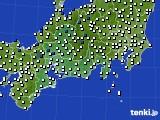 2020年11月26日の東海地方のアメダス(風向・風速)