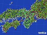 2020年11月27日の近畿地方のアメダス(日照時間)